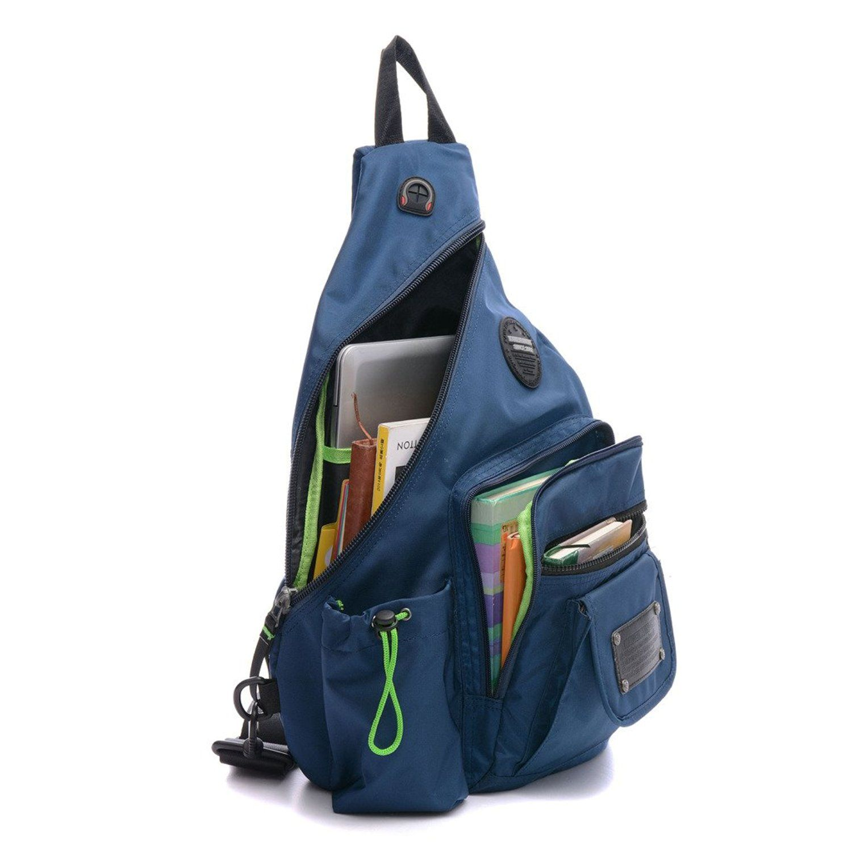 DDDH 133 Inch Sling Bag Riding Hiking Single Shoulder Backpack For Men Women
