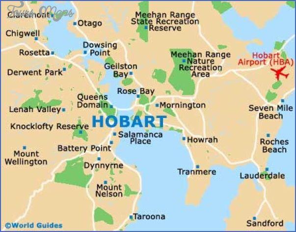 Australia Map Hobart.Awesome Hobart Map Tours Maps Tasmania Australia Continent