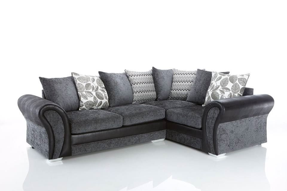 Grey Starlet Fabric Sofa, Grey Fabric Sofa, Corner Sofa Starlet Corner Sofa