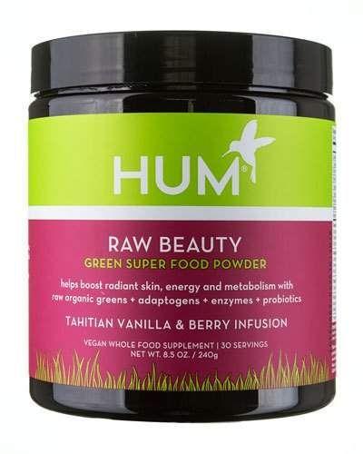 Raw Beauty Powder Tahitian Vanilla Berry Infusion Green Superfood Powder Hum Nutrition Green Superfood