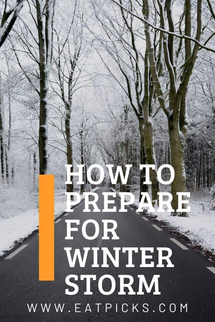 Winter Storm Preparedness guide for you and your family. If a bad snow storm is forecast, use these tips for food, home, car, and things to do! #winterstormprep #firstaid #family #carprep #winter