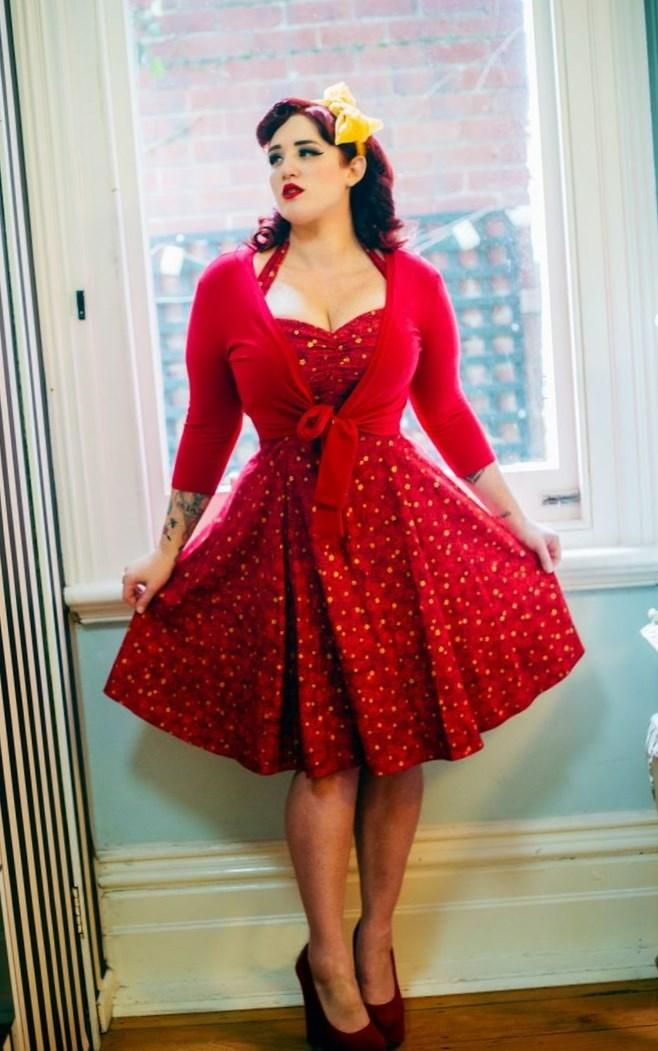 Pin up style dresses plus size - http   pluslook.eu dresses 699eb0659638