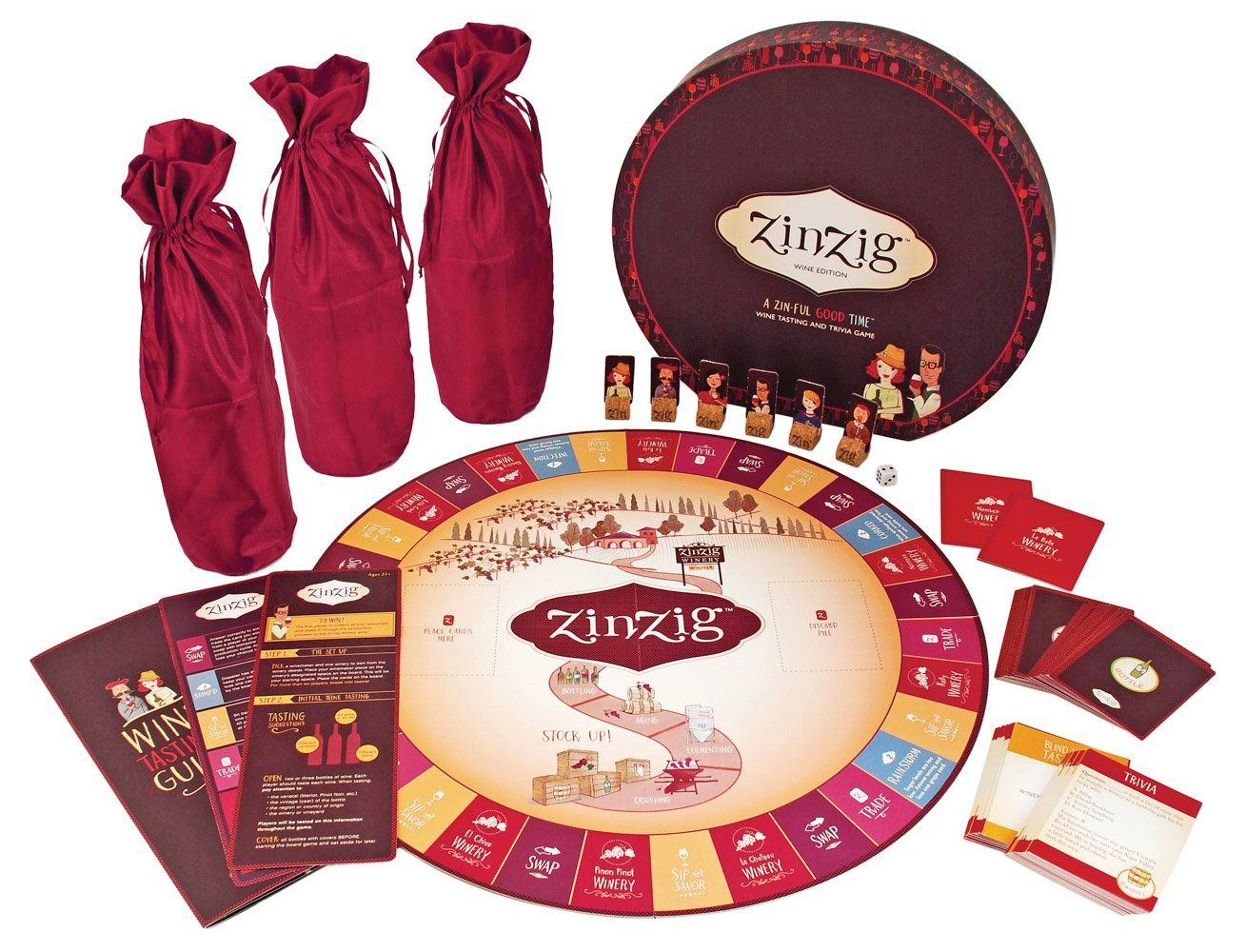 Zinzig Wine Tasting And Trivia Game For Wine Parties Dinners Tastings Wine Games Wine Tasting Wine Lovers