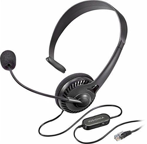 Insignia Landline Phone Hands Free Headset Black Ns Mchmrj9p Headset Landline Phone Hands Free