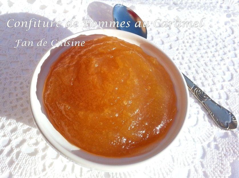 Confiture de pomme au caramel