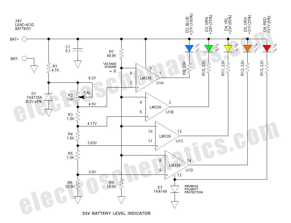 24 Volt Battery Charger Circuit