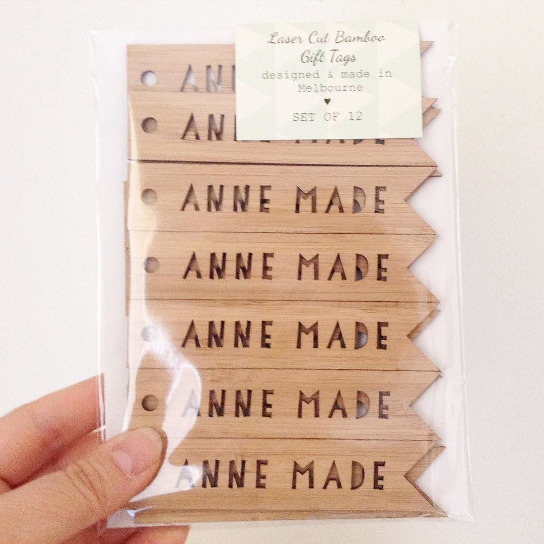 These sweet tags should be arriving at their destination any day now! Anne Made - Love!! You can create your own mix of 12 gift tags any word any name you wish... In store now. #annewithane  #shopmadeit by littlecardboutique