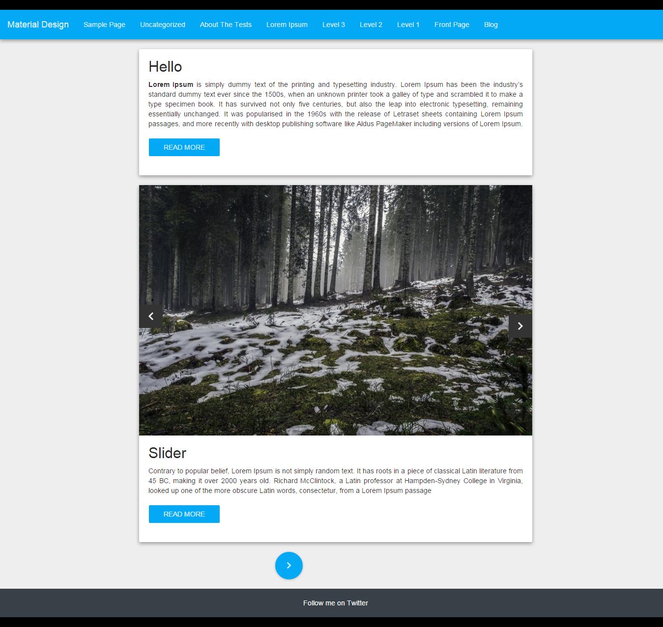 Wordpress theme based on material design | 11 Free Material Design ...