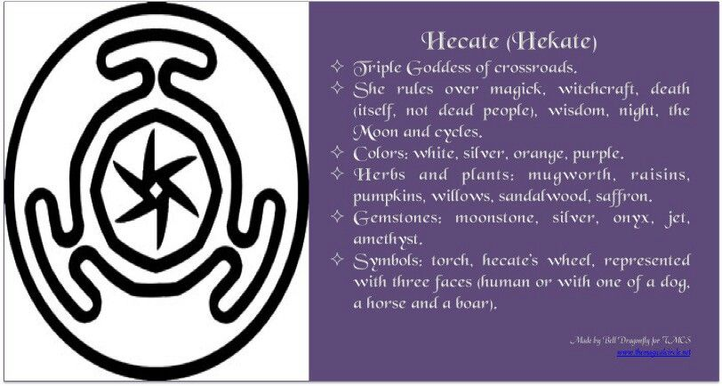 Hecate Goddess Hecate Queen Of Witches Triple Moon Goddess And