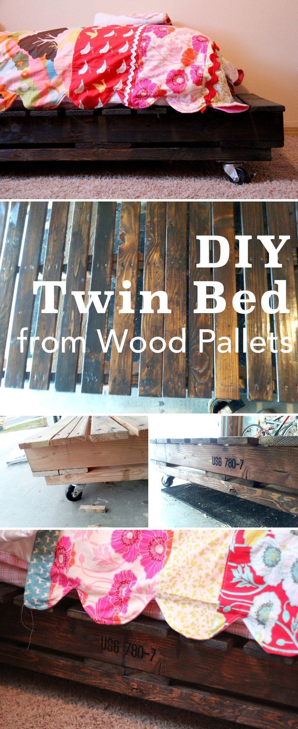 36 einfache DIY-Bettrahmenprojekte zur Aufwertung Ihres Schlafzimmers | Homelovr DIY Twin Bed - 36 einfache
