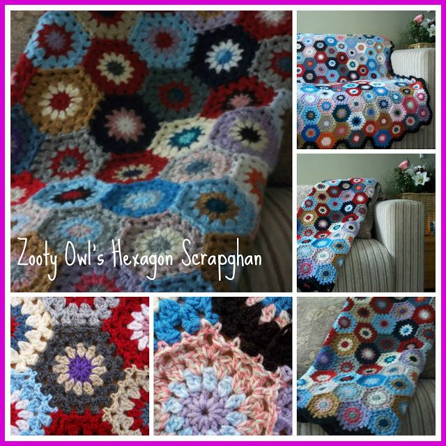 Hexagon Motif Pattern - Scrapbuster Hexagon Afghan | Crochet ...