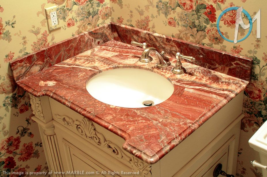 Changing Depths But Not Heights In This Small Bathroom Keeps The Space From Feeling Crowded Bathroom Countertops Stylish Bathroom Bathroom Remodel Small Diy