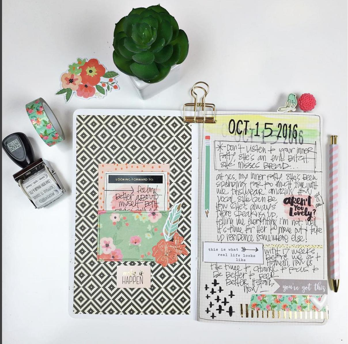 Scrapbook notebook ideas - Self Care Travelers Notebook Scrapbook Com