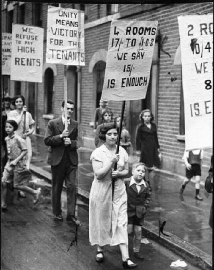 A 1930s Rent Protest London History East London Old London