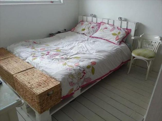 Houten Paletten Bed : 23 really fascinating diy pallet bed designs that everyone should