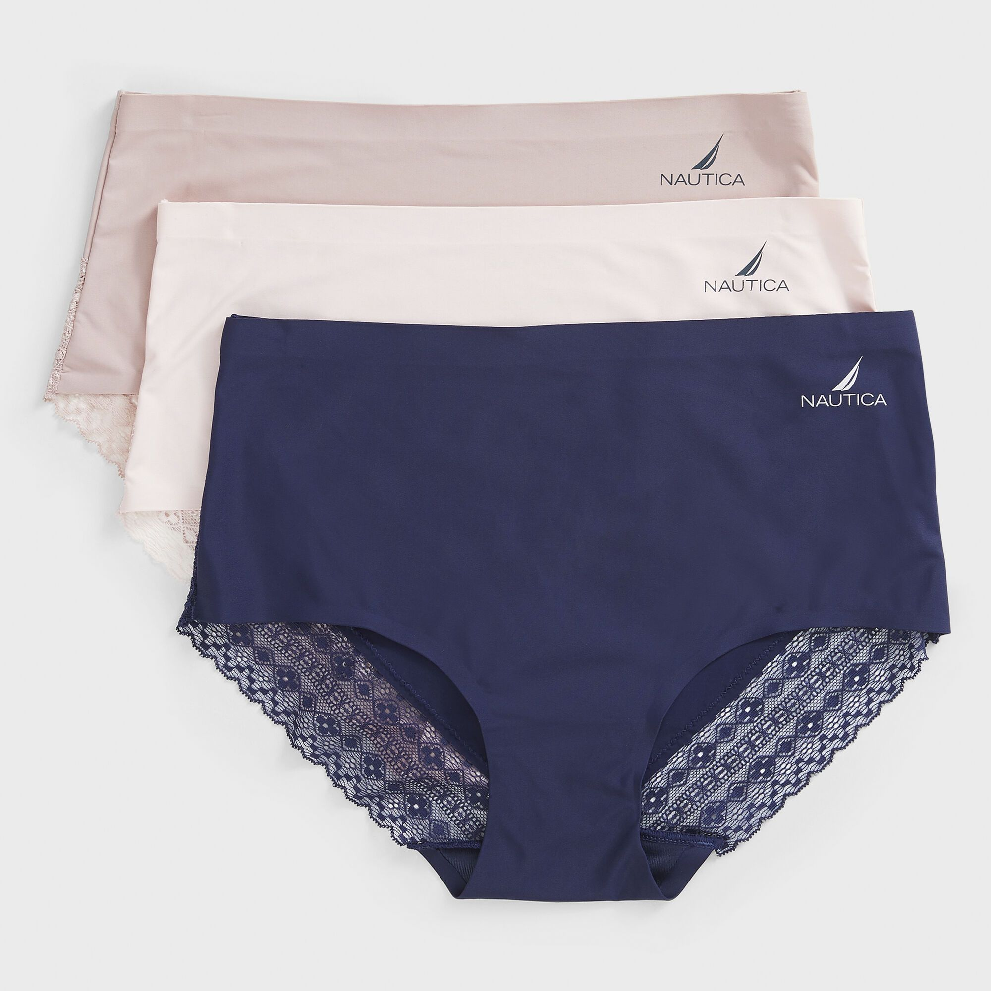 Designed with modest coverage and a moderate legline, these soft-stretch mid-rise briefs feature a smooth elastic waistband.
