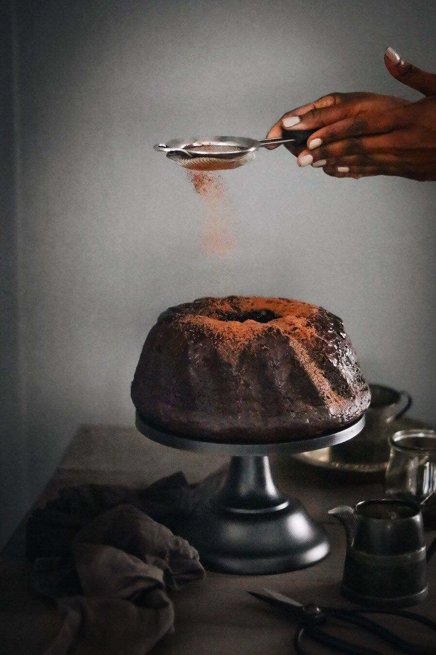 Chocolate cheesecake bundt cake in 2020 creamy chocolate