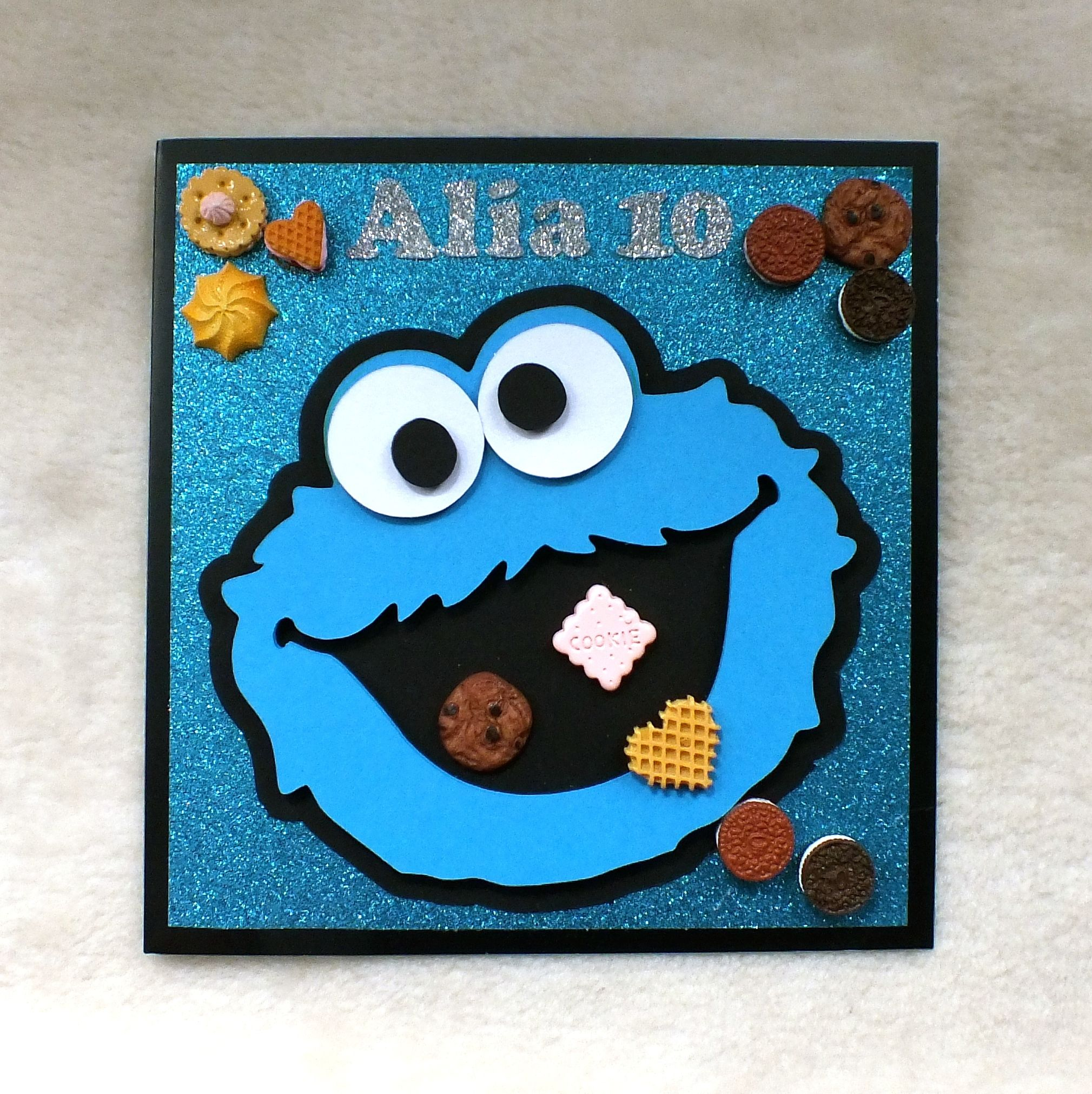 Cookie Monster 10th Birthday Card Handmade By Mandishella Cards Handmade Handmade Birthday Cards Birthday Cards