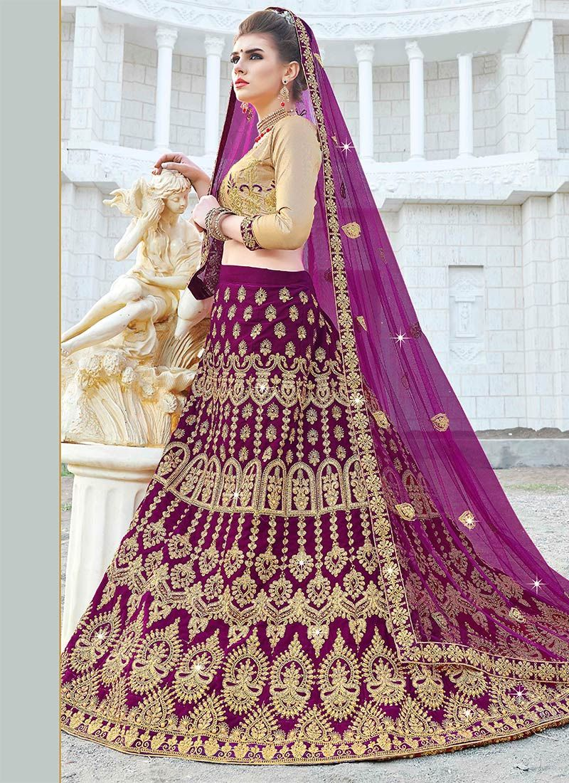 90046f7374 Buy Purple Embroidered A Line Lehenga, Stones , Embroidered, a line ...