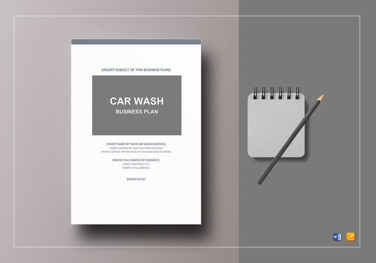 Car Wash Business Plan Template $12 Formats Included  MS Word