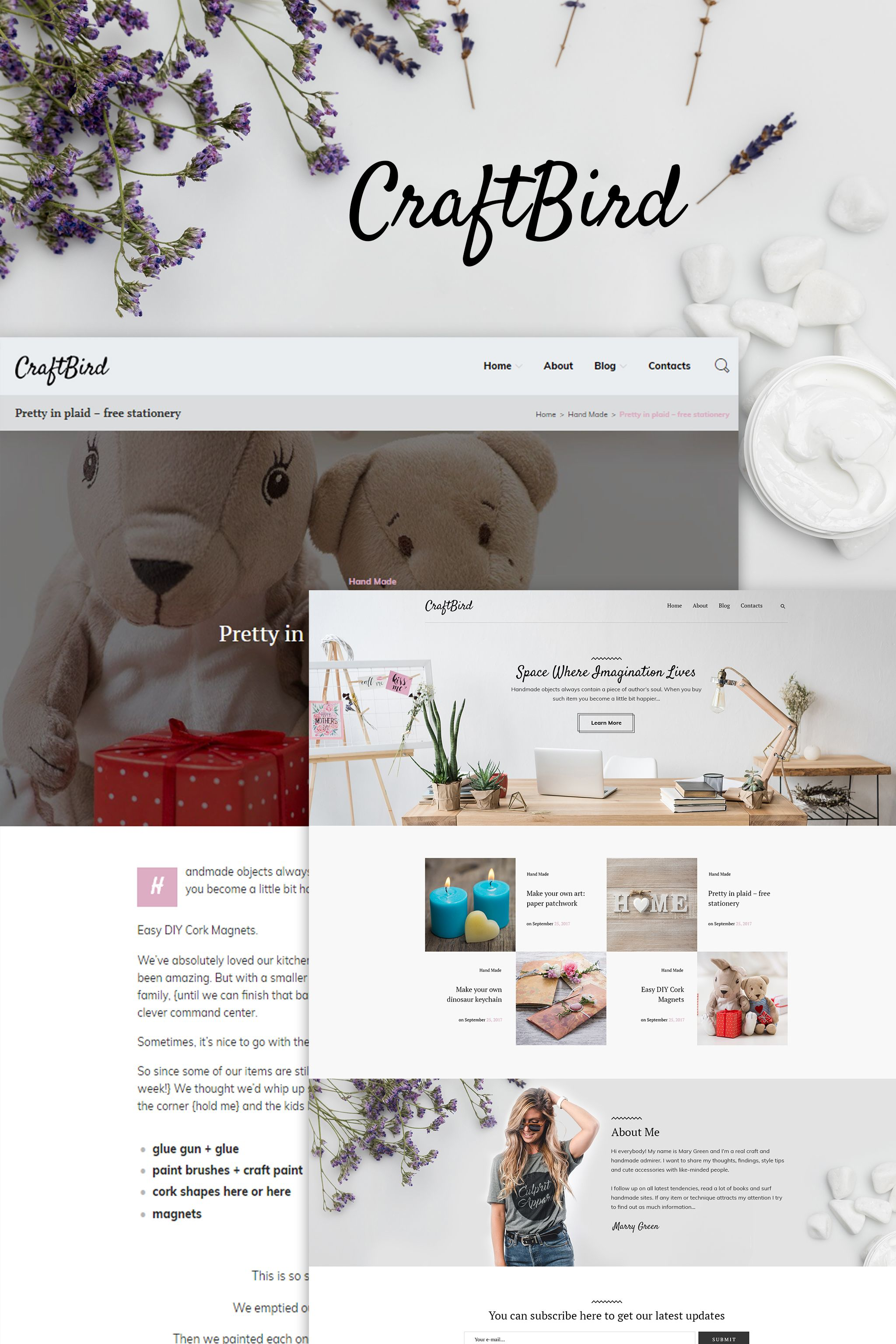 Handmade Artist Personal Blog WordPress Theme | WordPress ...