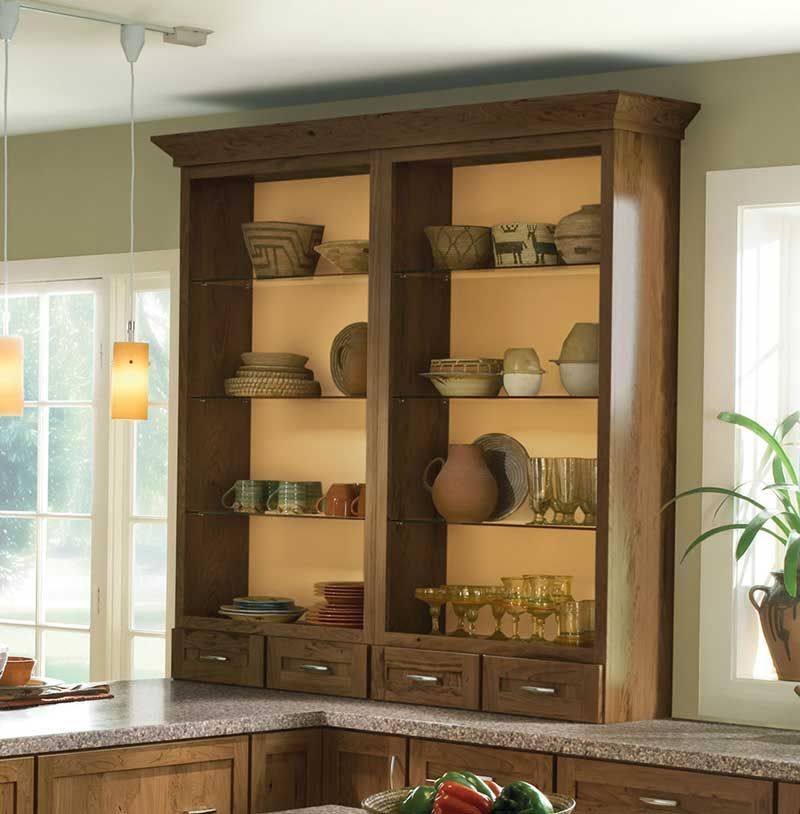 Kitchen Cabinets In Rustic Cherry With Husk Finish