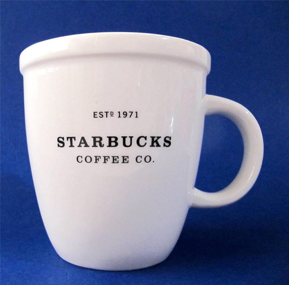 Starbucks Barista Coffee Mug Cup X Large 16 Oz Pure White Abbey Style 2001 95 Starbucksbarista At Justluv Treasures