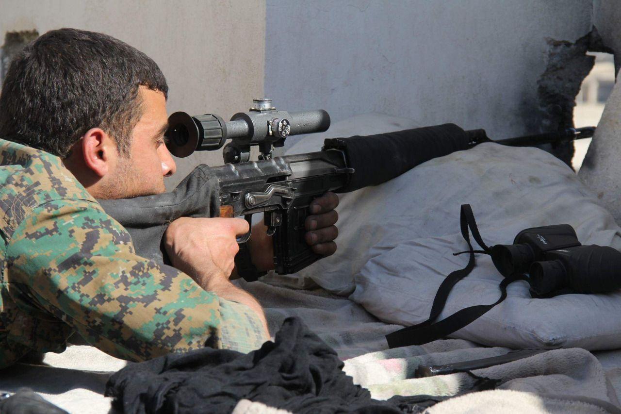 YPG sniper with a SVD Dragunov.