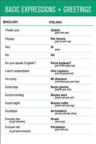 Italian - Basic Expressions & Greetings