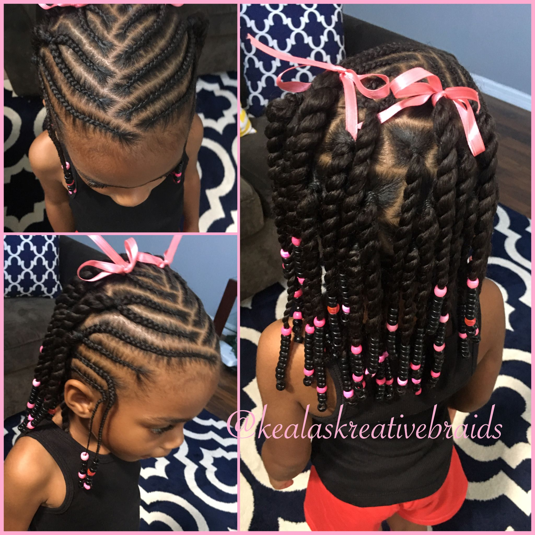 Little Girl Hairstyle Beads And Braids Lil Girl Hairstyles Kids Hairstyles Kids Braided Hairstyles