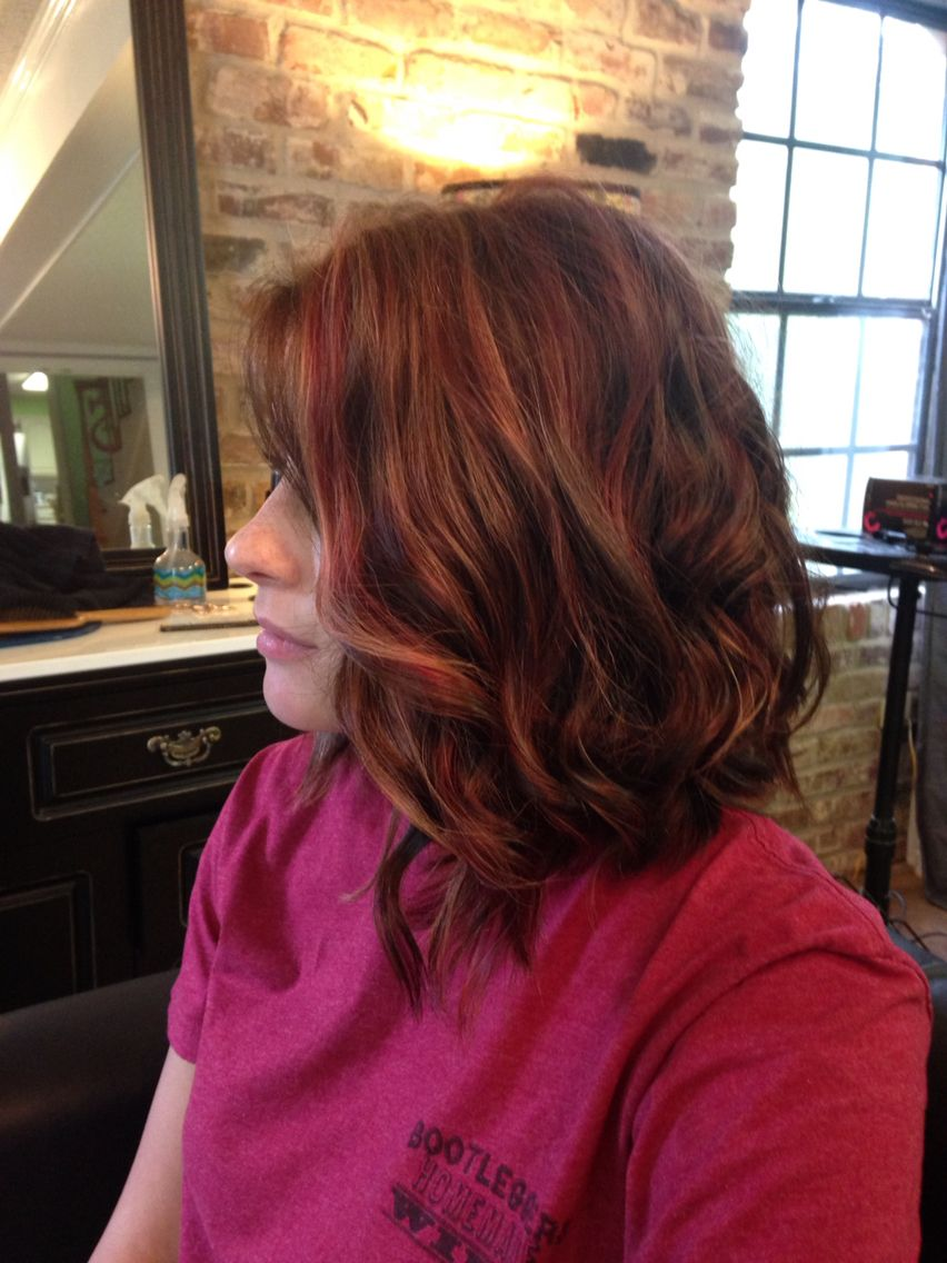 Red brown and blonde