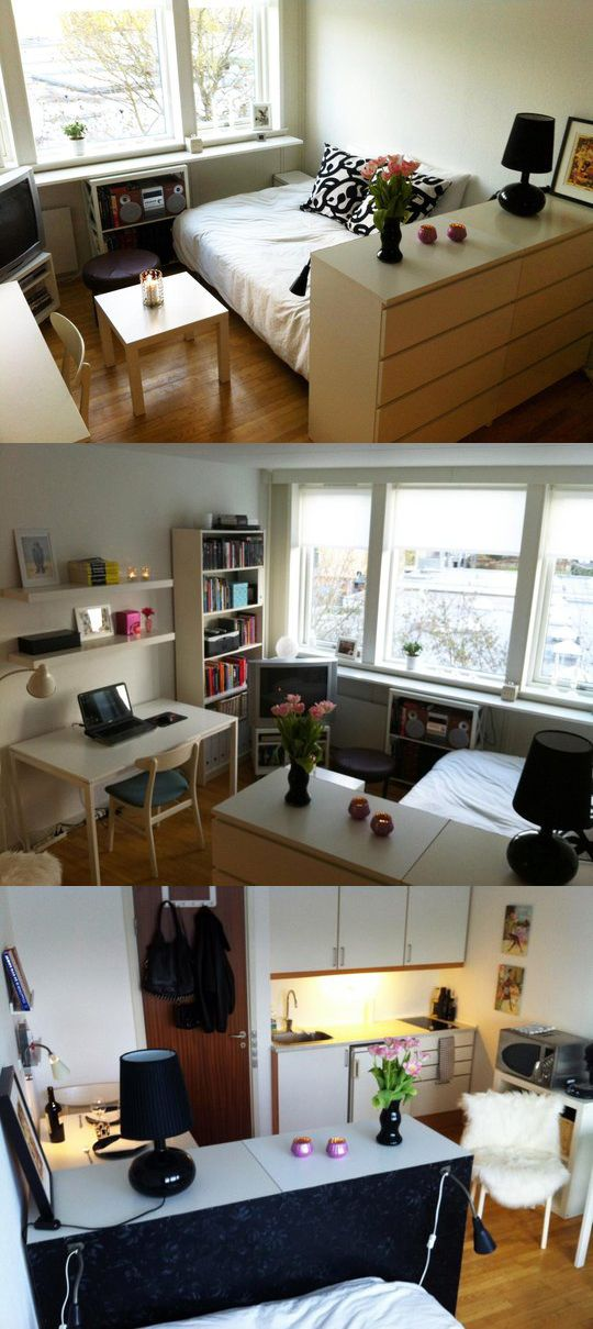Teeny tiny studio apartment decor home pinterest for Deco departamentos pequenos