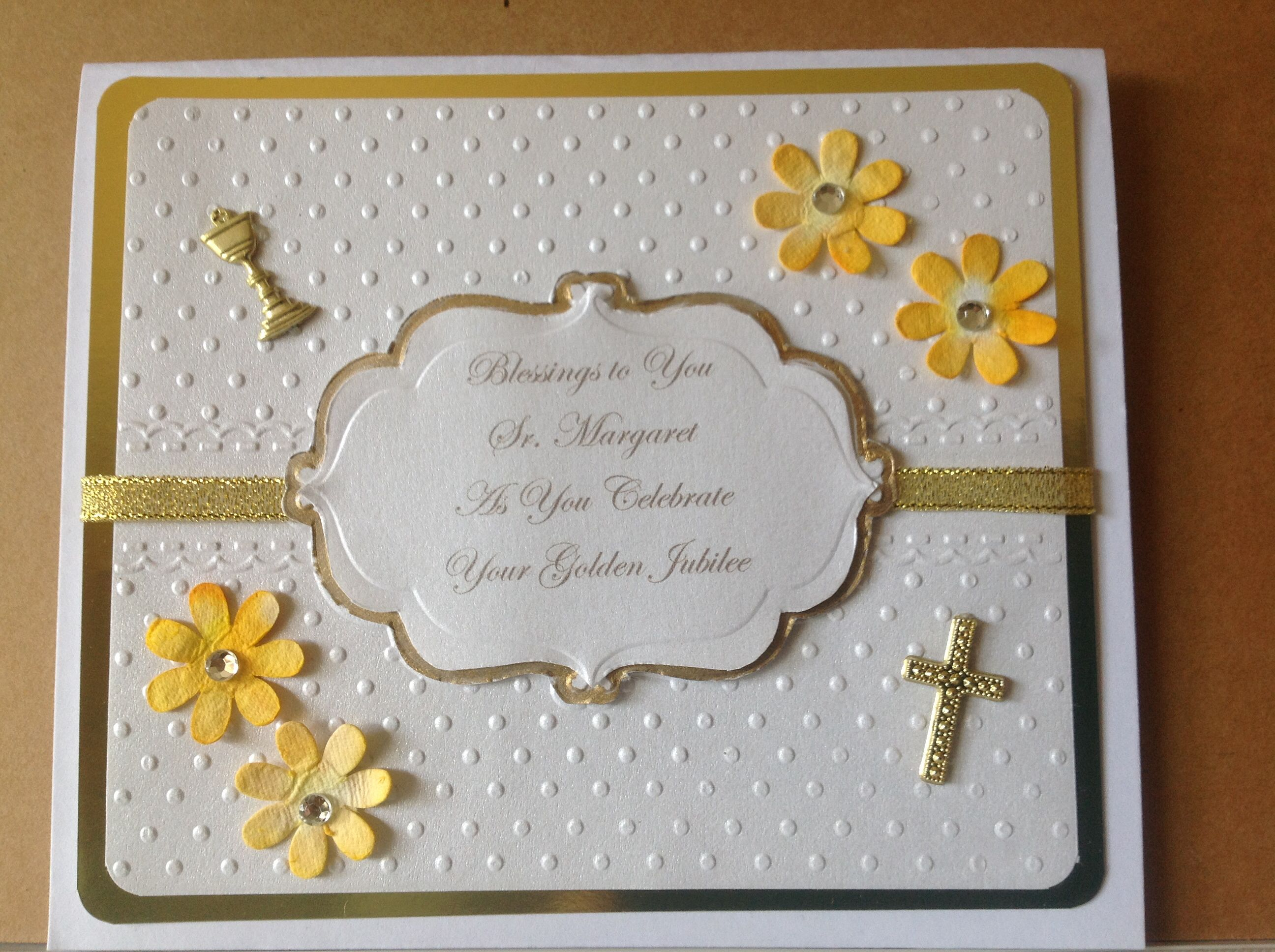 This was a special request for a nuns golden jubilee my handmade this was a special request for a nuns golden jubilee kristyandbryce Choice Image