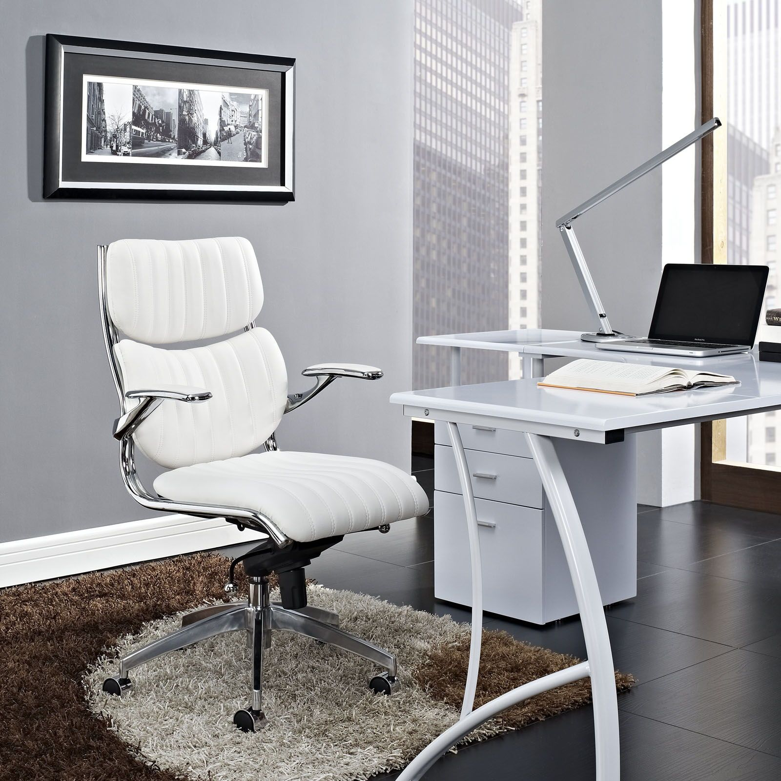 Modway Furniture Escape White Mid Back Office Chair