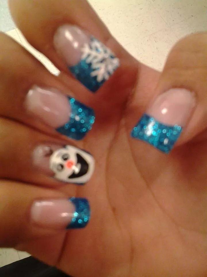 Olaf nail art ♥ | nails :-) | Pinterest | Olaf nails, Disney nails ...