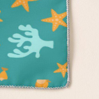 Beach Seaweed and starfish tiled pattern scarf - pattern sample ...