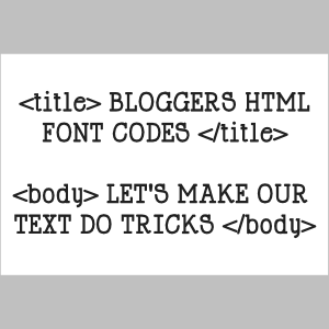 Bloggers HTML font codes | Inspire Me Blogging moving marquee