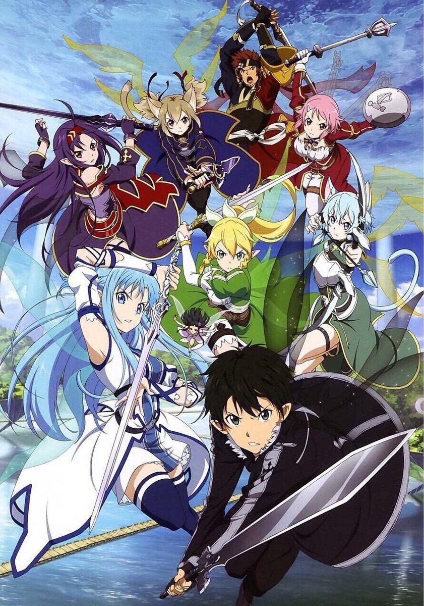 ちゃっかりhy 嫁阻止隊少将 Akagamihy0503 2月19日 その他 何か私って まだアニメにでてないキャラ好きだったりするんだけど ユナ可愛いですよね W推しはアリスですw Twitter上にい Sword Art Online Kirito Sword Art Online Art