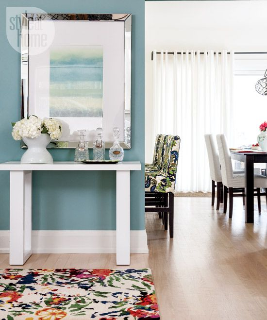 Lovely Contemporary Victorian Hallway: Interior: Colourful Modern Victorian