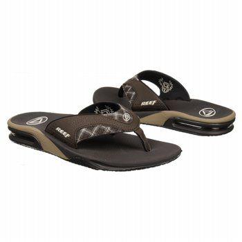 Reef Fanning Prints Sandals (Brown/Brown Plaid) - Men's Sandals - 11.0 M