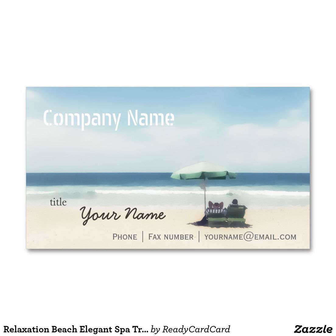 Relaxation beach elegant spa travel vacation business card relaxation beach elegant spa travel vacation standard business card reheart Choice Image