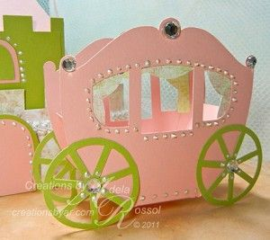 Carriage favour box template  8bad52aba