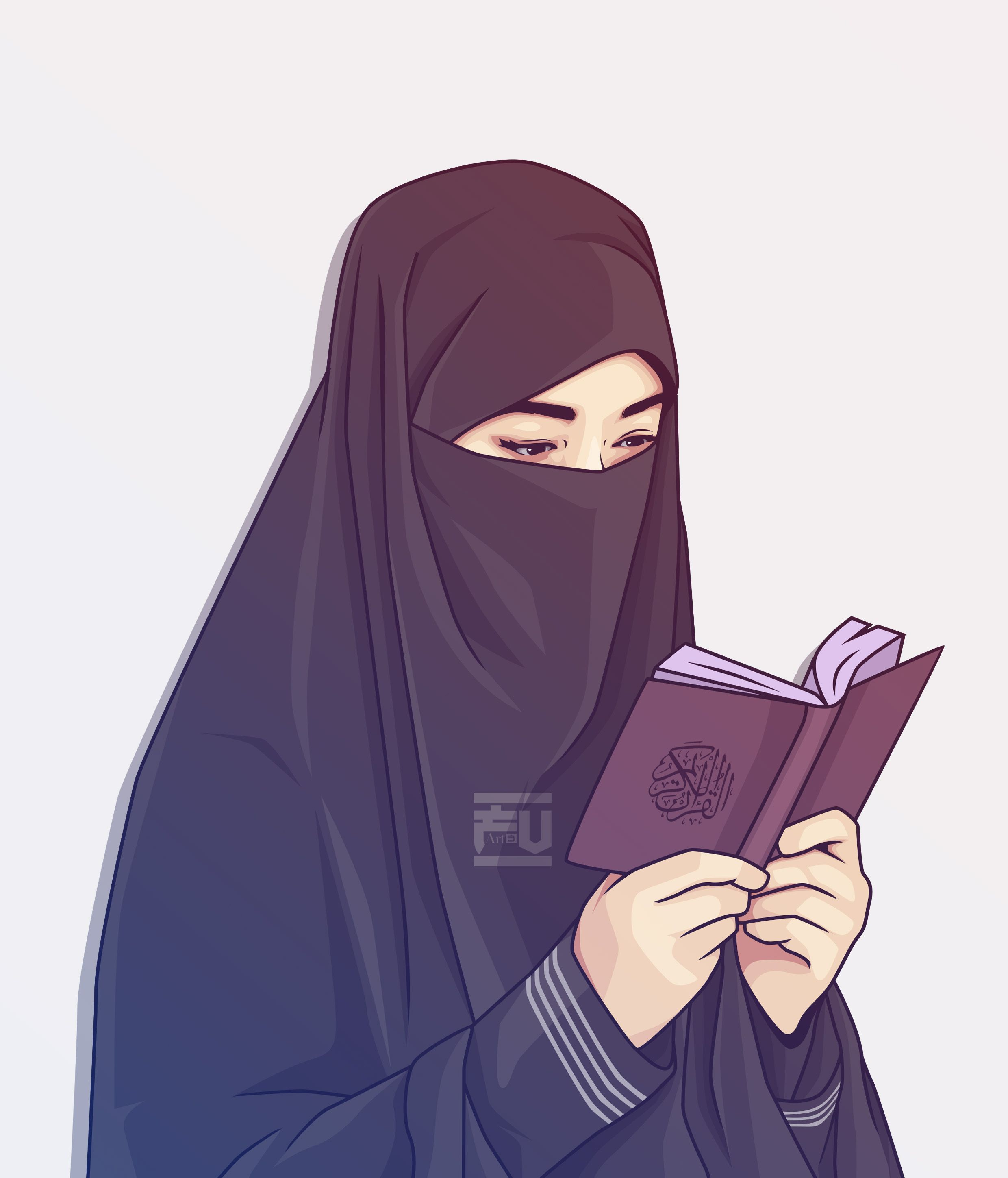 Hijab Vector Niqab Quran Anime Muslimah Hijab Drawing Girls Cartoon Art