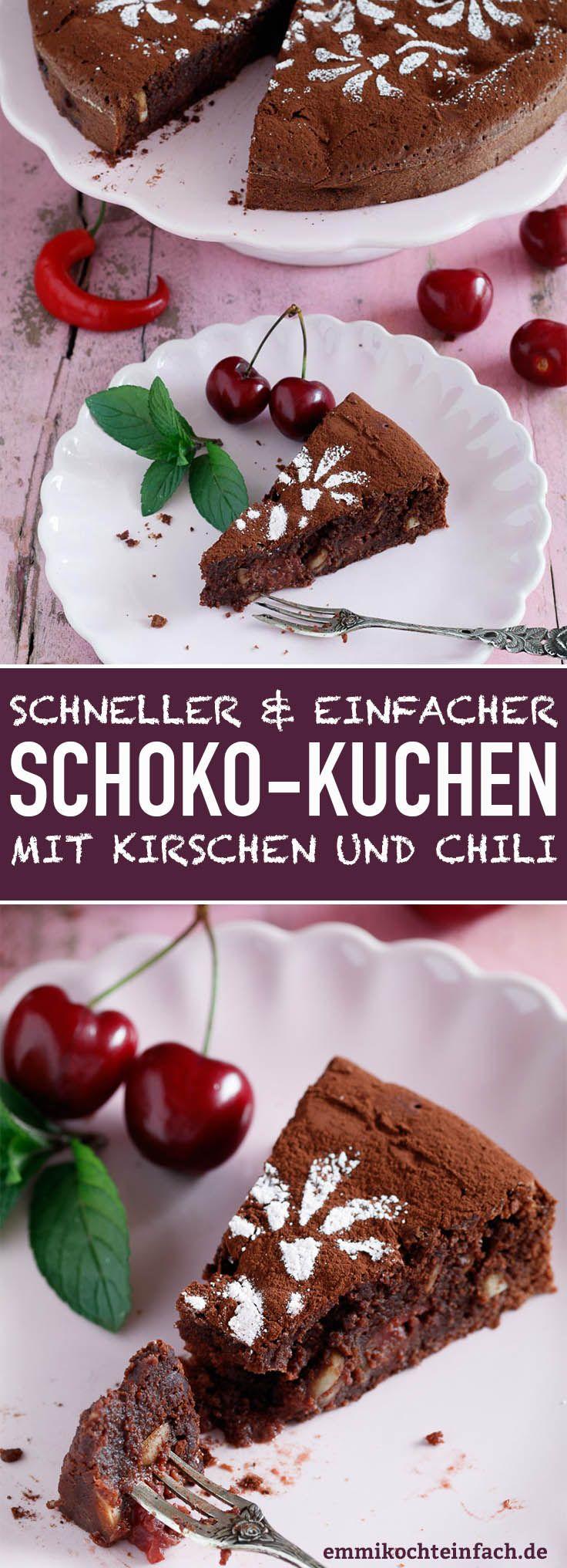 Schokoladenkuchen Mit Kirschen Und Chili Rezept Pinterest