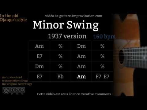 Minor Swing (160 bpm) (Old Style) - Gypsy jazz Backing track / Jazz ...