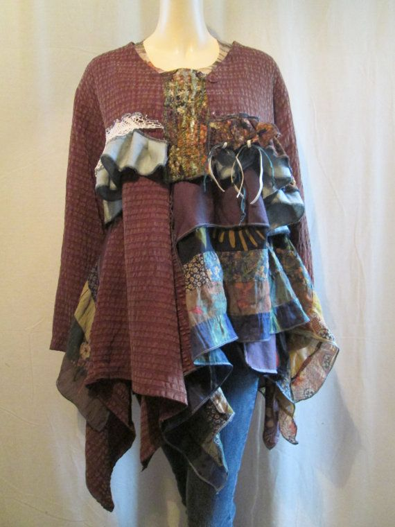 RESERVED for GP Lagenlook Blouse Overlayer by bluemermaiddesigns