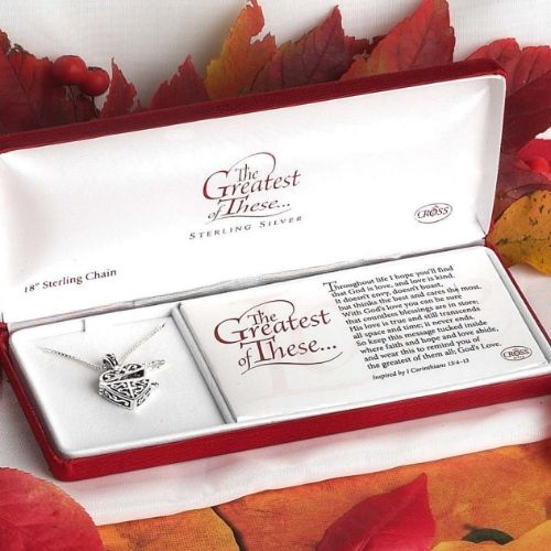 The Greatest Of These Sterling Prayer Box Necklacea