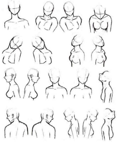 Refrence Poses Face Drawing Reference Figure Drawing Poses Anime Face Drawing