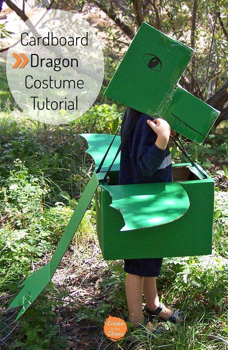 Cardboard Dragon Costume Create In The Chaos Diy Costumes Kids Dragon Costume Diy Princess Costume