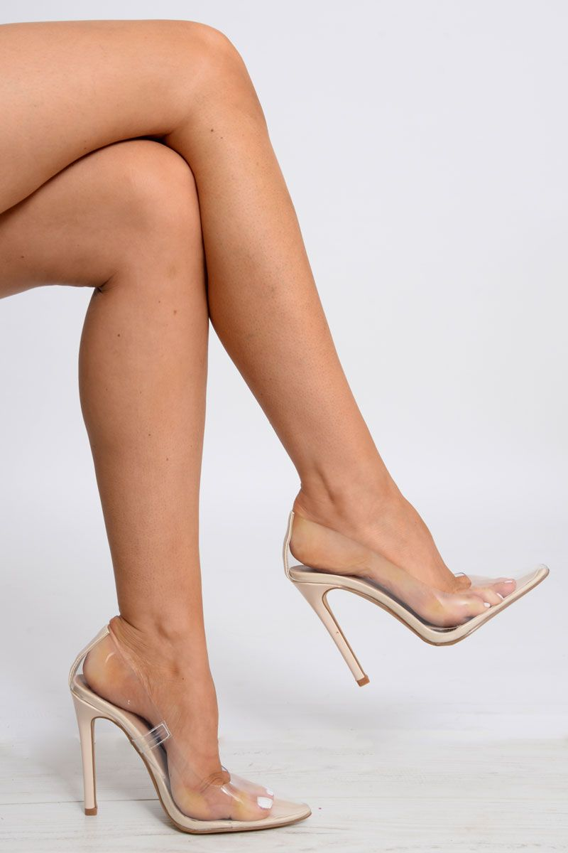 3b72b05b378 Clear Clear Court Shoe - Aiko | Going out, out | Shoes, Clear heels ...
